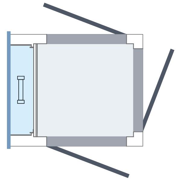 3 Eingänge Aufzug Homelift ES4