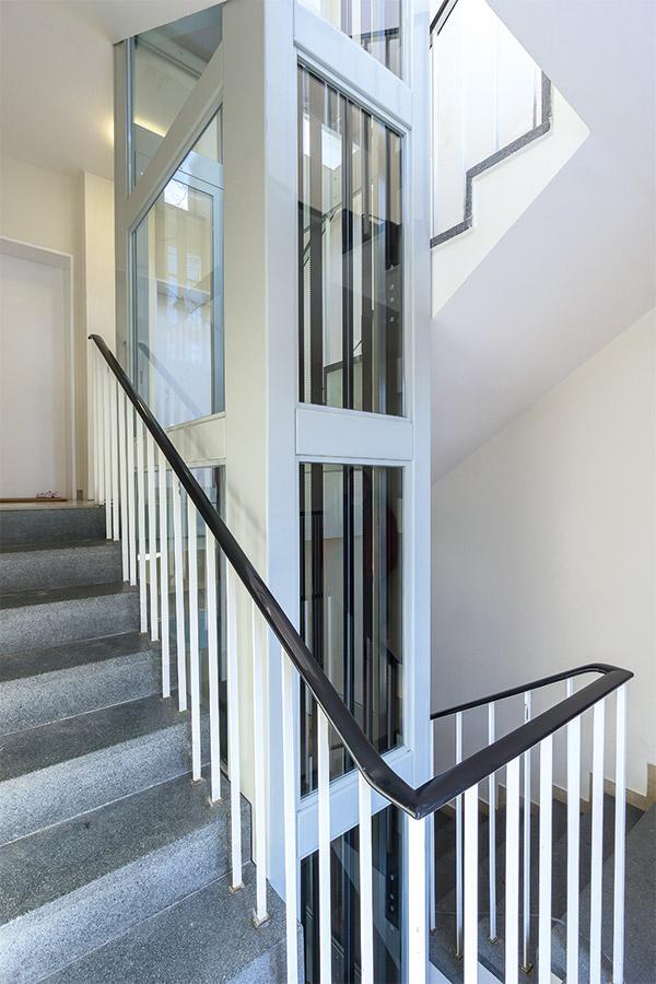 Geländer Schacht Aufzug Homelift ES4