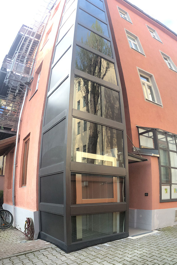 Homelift Aufzug, Außen, Parsdorf, GMS Service Aufzug